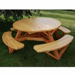Avens Timber Designer Garden Dining Table