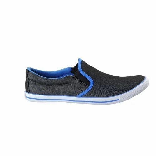 Touch Canvas Black R Blue-601 Shoes