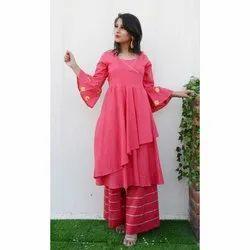 Ladies Pink Designer Suit