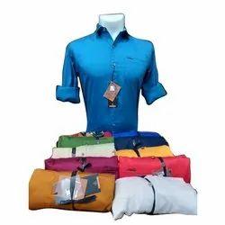 K-Star Collar Neck Mens Cotton Plain Shirt