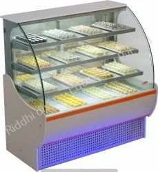 Glass Riddhi Sweet Display Counter, Thickness: 1.5 Mm, For Sweet, Cake