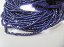 Ink Blue Color CZ 3 Mm Beads