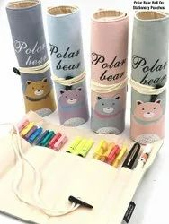 Bear Roll On Pencil Pouch