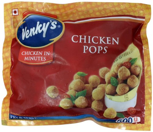 Venkys Chicken Pops, Packaging Type: Packet, Packaging Size: 500 Gm