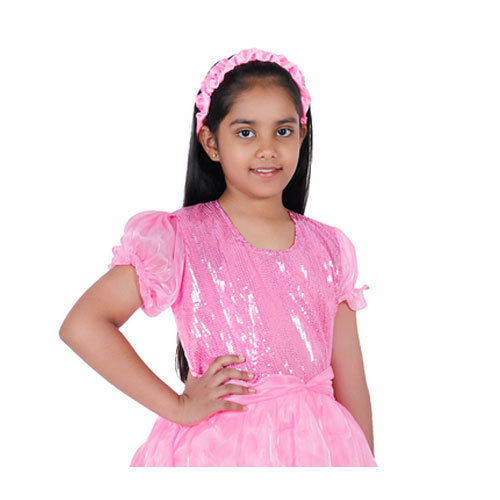 a5287c3d Pink Kids Barbie Girl Fancy Dress, Size: L, Rs 490 /piece | ID ...