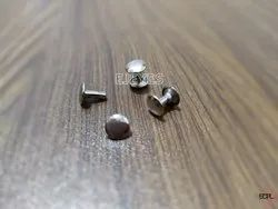 7mm Mild Steel Top Bottom Rivets Nickel
