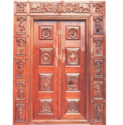Mahalsa Exterior Pt301 Mythological Teak Wood Temple Doors, For Home, Hotel Etc