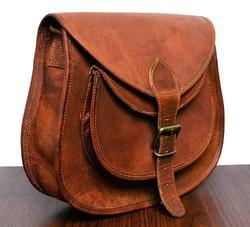 Vintage Leather Ladies Purse, Sling Bag, Handmade Leather Bag