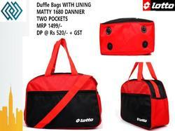 As In Image Polyester Lotto Duffle Bag, For Gym