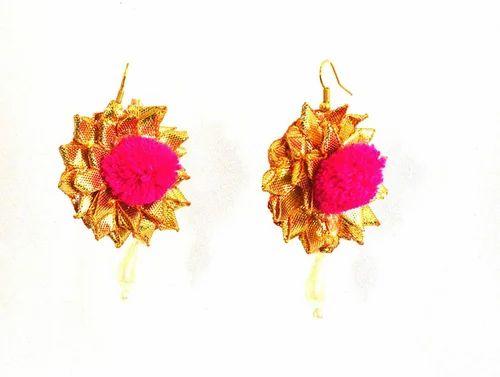 0562a09d8eec gota patti jewelry - Yellow Flower Gota Patti Jewelry Set 100% Export  Oriented Unit from Jaipur
