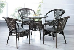 Black Outdoor Chair And Table