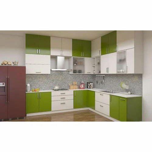 Designer L Shaped Modular Kitchen At Rs 2500 Square Feet: Modern Modular Kitchen Cabinet, Rs 1500 /square Feet