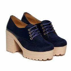 Women Party Wear Blue Heel Boot, Size: 6, 7, 8, 9, 10