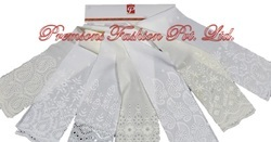 Plain Cotton Schiffli Embroidery Fabrics Plazzo