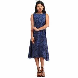 Cottinfab Women's Shift Multicolor Dress