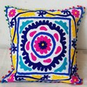 Suzani Work A Type Of Embroidery Cushion Cover