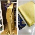 Ladies Satin Saree With Banarasi Silk Blouse