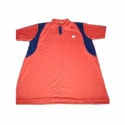 Plain Half Sleeves Men's Sports Red T- Shirt, Size: Medium