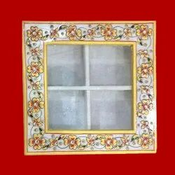 Decorative Marble Box, For Gift, Shape: Square