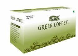 Gruner Green Coffee Bean Powder 30 Sachet Natural Flavor, Packaging Type: Paper Box