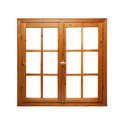 Brown Casement Wooden Windows