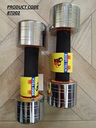 Body Tech Fixed Weight Steel Chromed Dumbbells, For GYM AND HOUSEHOLD, Weight: 1kg To 40kg