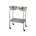 Stainless Steel Double Bowl Stand