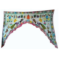 Indian Handmade Door Window Valance - Beaded Multicolor