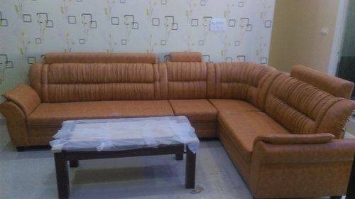 Solid Wood Corner Sofa Set Latest Design With 3 Years Warranty