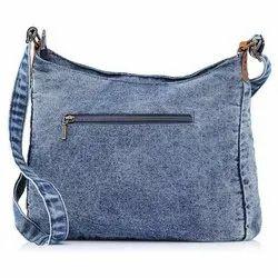 60-67 Plain Bag Denim Fabric, For Bags, Packaging Type: Roll