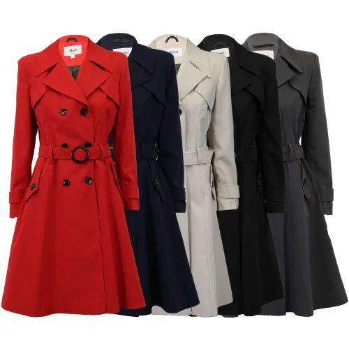 1618bf419509 Regular Fit Casual Fancy Ladies Coat