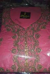 Cotton Pink Dress Material