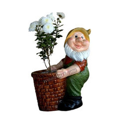 An Old Man Holding Plant Pot