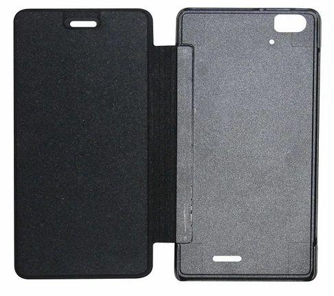 competitive price e35c0 0d54a Flip Cover For Lava Iris Icon (Black)