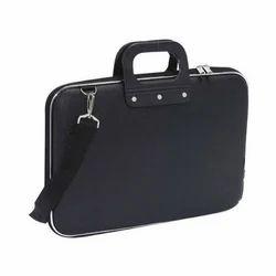 PU Black Briefcase Laptop Bag