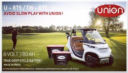 Union Golf Carts Batteries