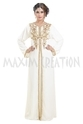 Djellaba Maxi Dress With Simple Embroidery Design