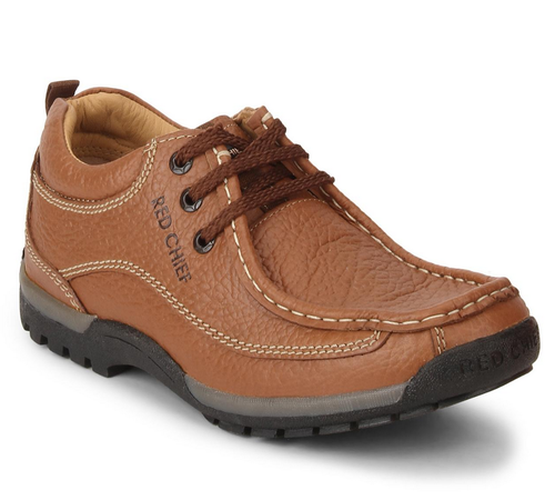 Leather Casual Wear Red Chief Mens Low