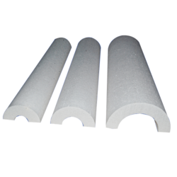 White EPS Thermocol Pipe Section, Size: 1 Meter