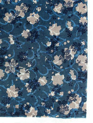 Indigo Dabu Print Cotton Fabric