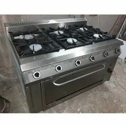 Stainless Steel 6 Burner Gas with Oven