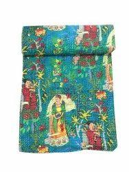 Kantha Work Gudari Hand Stitched Cotton Kantha Quilt
