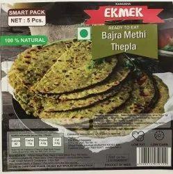 Ekmak Bajra Methi Thepla (Dhebra) Ready To Eat Vacuum Packed
