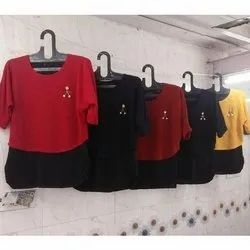 Casual Wear 3/4th Sleeves Girls Fashionable Top, Packaging Type: Packet