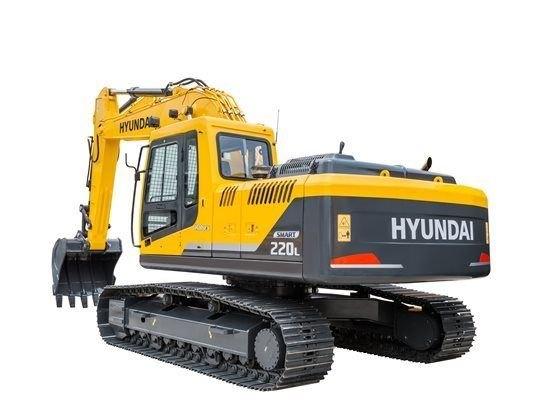 Hyundai R220L SMART Medium Crawler Excavator, 22 ton, 150 hp