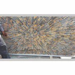 Rectangular Glitter Marbles Top