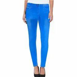 Ladies Streachable Sky Blue Jeans