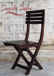 Dwarka Impex Brown Armless Wooden Chair