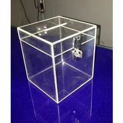 JIYA  Acrylic Transparent Donation Box