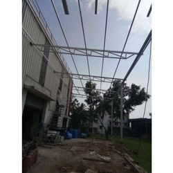 Mild Steel Prefab Industrial Prefabricated Structure, for Factory